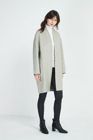 TIRELLI Textured Coat - Ash