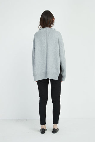 Tirelli Relaxed High Neck Knit Sweater