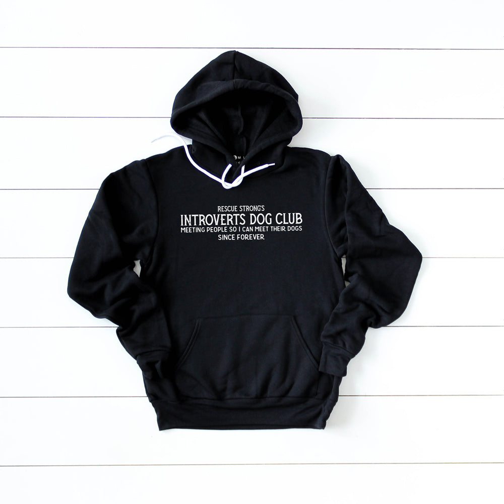 Unisex Introverts Dog Club Pullover Hoodie