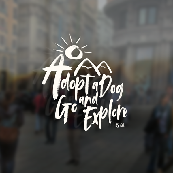 Adopt a Dog and Go Explore 2.0 Window Sticker | Rescue Strong