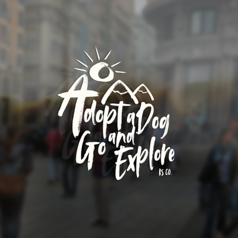 Adopt a Dog and Go Explore 2.0 Window Sticker