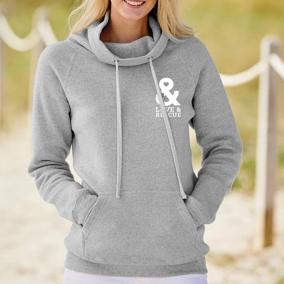 Women's Cowl Neck Sweatshirt | Rescue Strong