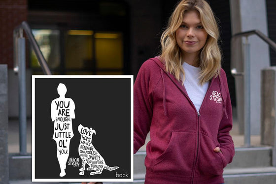You Are Enough Unisex Zip Hoodie (with sleeve prints)