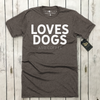 Loves Dogs (and coffee) Unisex Tee | Rescue Strong