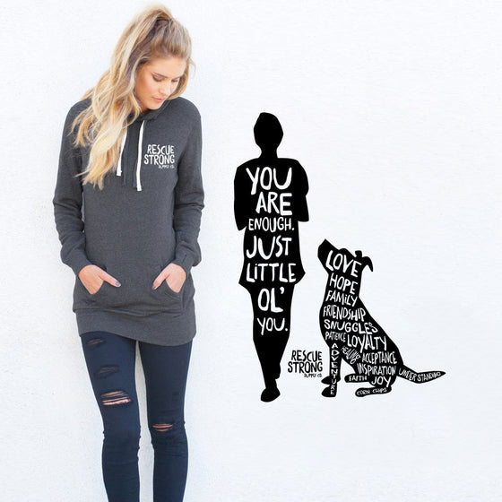 MISPRINT - You Are Enough Women's Hoodie Dress