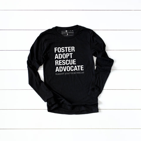 Unisex Foster Adopt Rescue Advocate Long Sleeve Tee | Rescue Strong