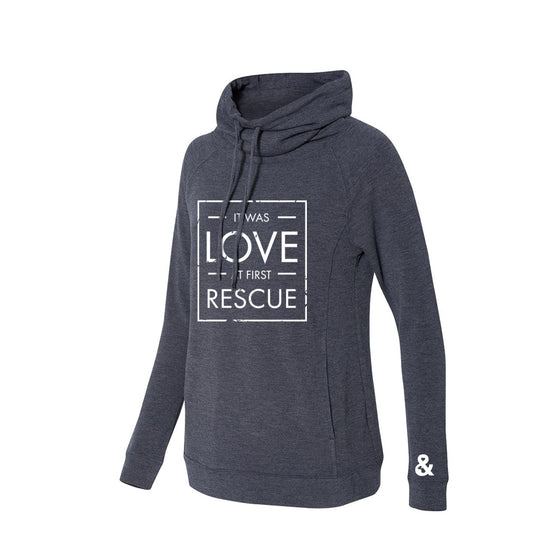 Women's Love at First Rescue Faux Cashmere Funnelneck Sweatshirt | Rescue Strong