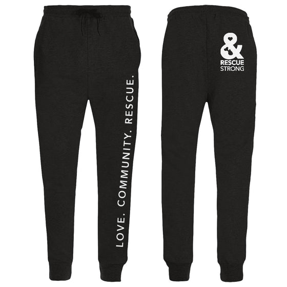 Love. Community. Rescue. Unisex Joggers | Rescue Strong