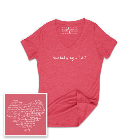 Women's Kinds of Dogs I Like V-Neck | Rescue Strong