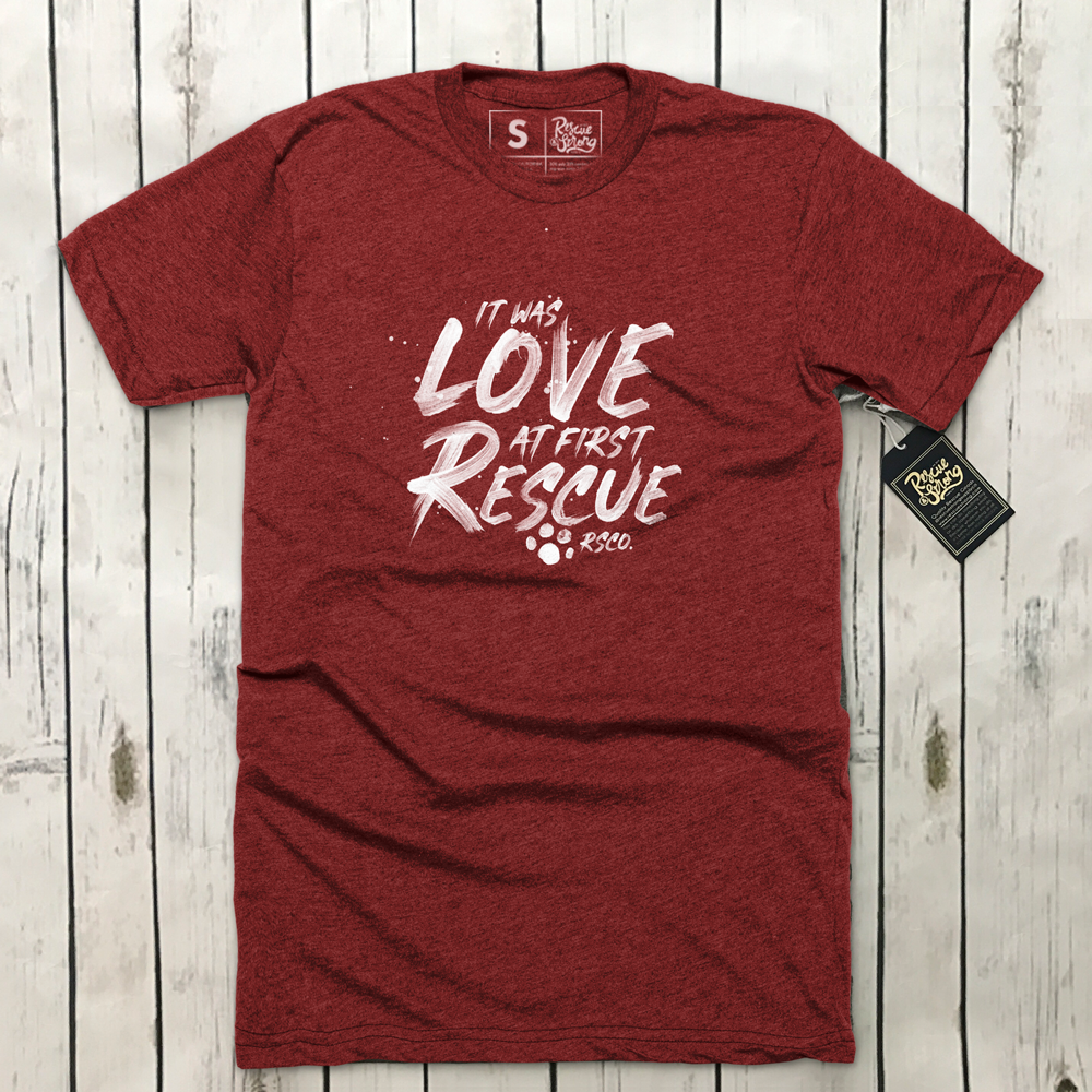 Unisex It Was Love at First Rescue 2.0