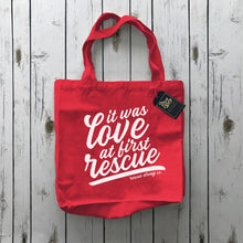 It Was Love at First Rescue Tote