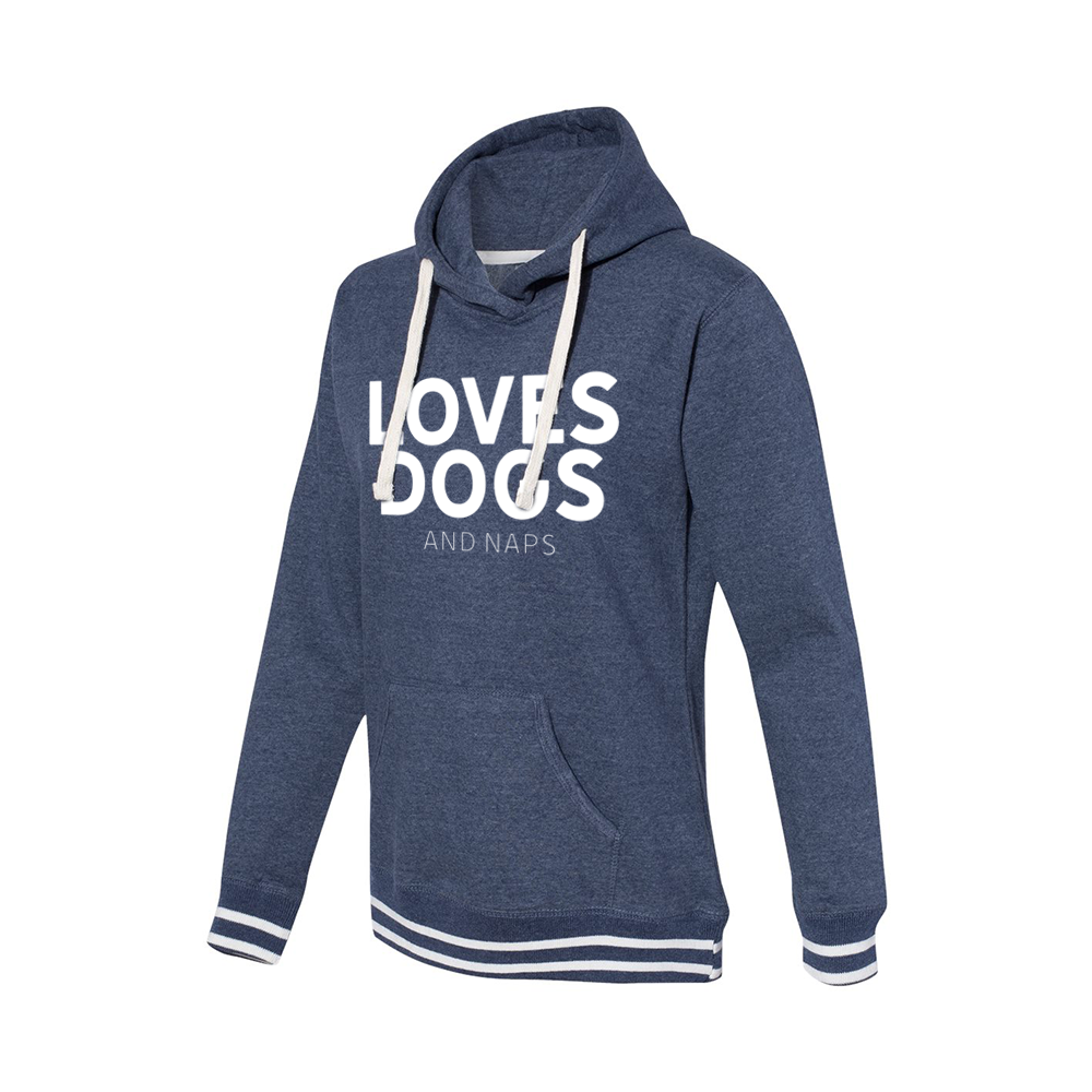 Loves Dogs (and naps) Women's Hooded Pullover | Rescue Strong