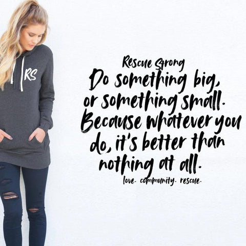 Script Mantra Women's Hoodie Dress | Rescue Strong