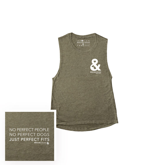 Perfect Fit Women's Scoop Neck Muscle Tee | Rescue Strong