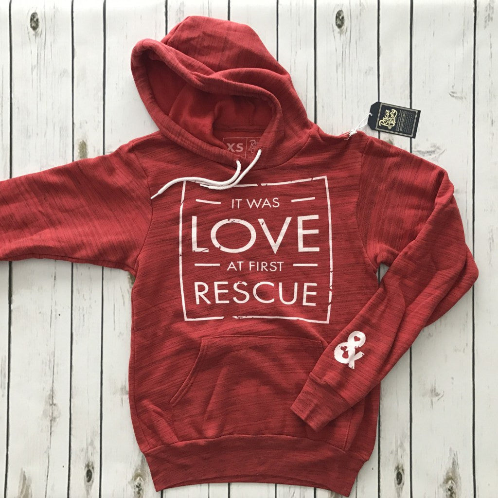 Unisex Love at First Rescue Pullover Hoodie