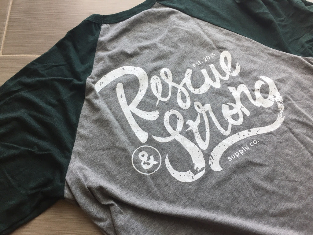 Unisex Rescue Strong Supply Co. 3/4 Raglan Tee