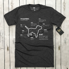 Pit Pup Blueprints Unisex Tee | Rescue Strong