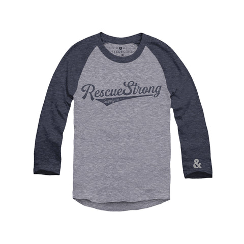 Rescue Strong 3/4 Sleeve Unisex Raglan Tee | Rescue Strong