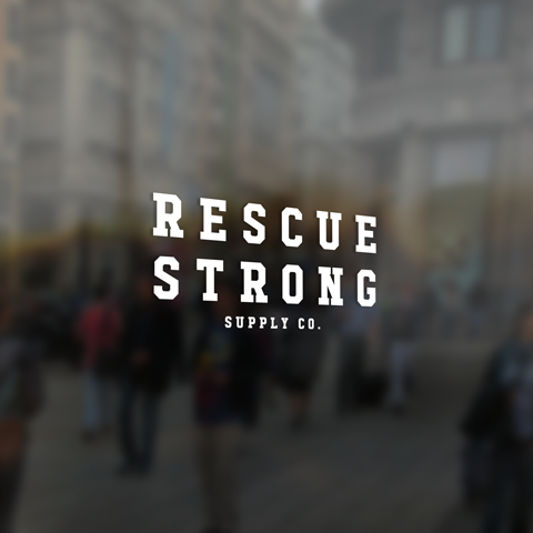 Rescue Strong Window Sticker