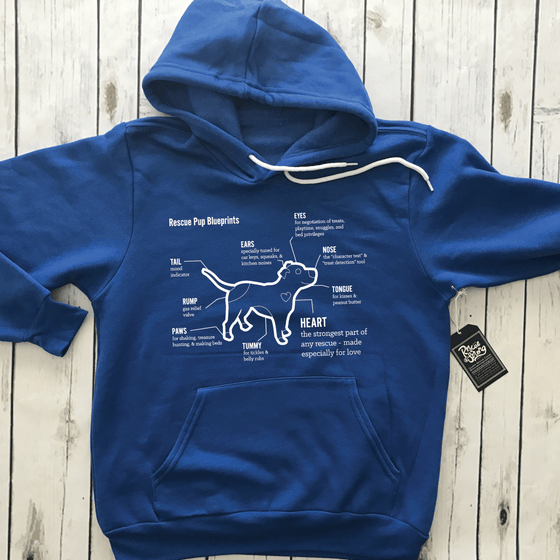 Rescue Pup Blueprints Hoodie | Rescue Strong