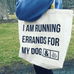 Love and Rescue Dog Errands Tote - Rescue Strong
