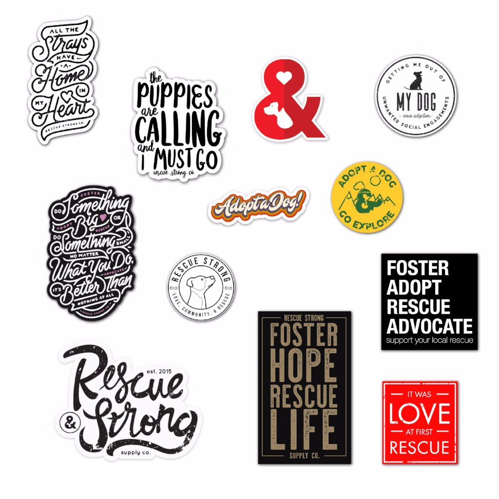 Rescue Strong Sticker Pack Volume 1 | Rescue Strong