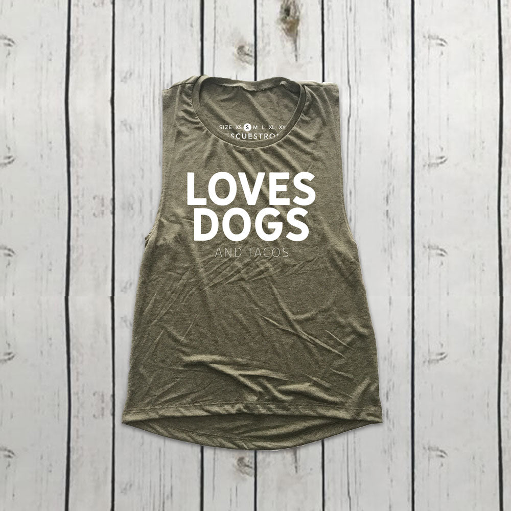 Love Dogs (and tacos) Women's Scoop Neck Muscle | Rescue Strong