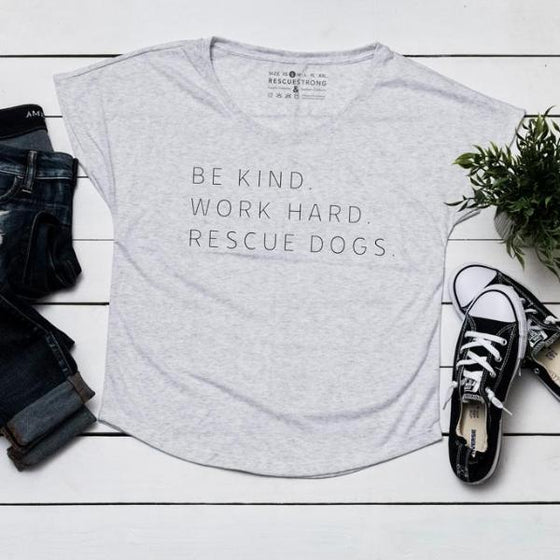 Women's Triblend Dolman Tee | Rescue Strong