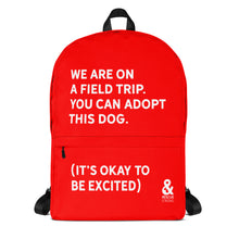 Bold Field Trip Backpack (Red) | Rescue Strong