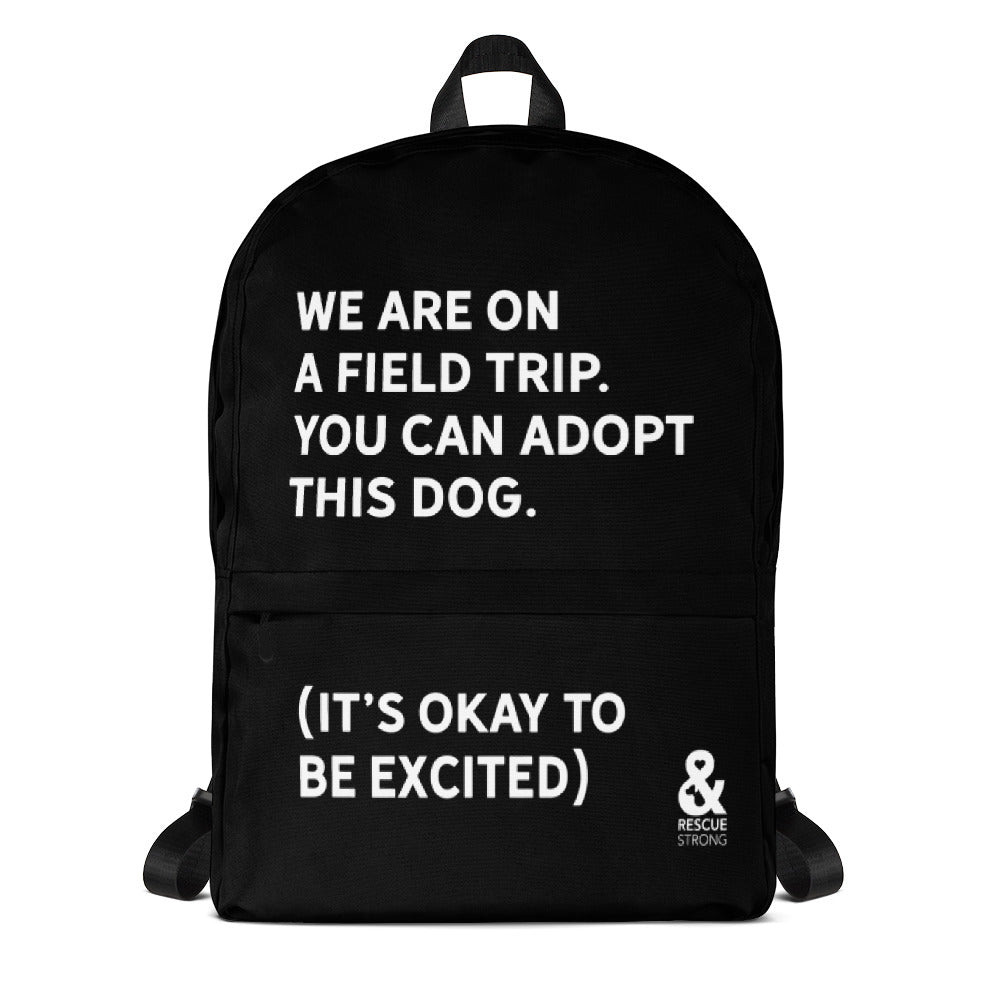 Bold Field Trip Backpack (Black) | Rescue Strong