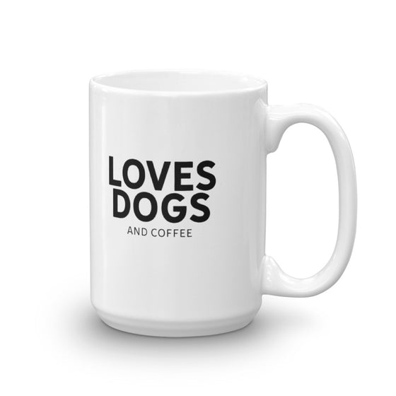 Loves Dogs (and coffee) Ceramic Mug | Rescue Strong