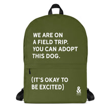 Bold Field Trip Backpack (Army Green) | Rescue Strong