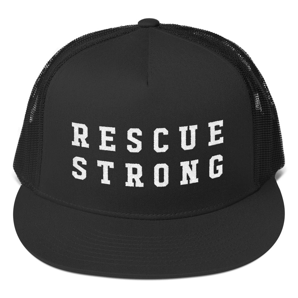 Rescue Strong Embroidered Trucker (White Thread)