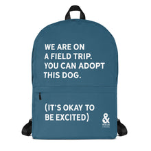 Bold Field Trip Backpack (Blue) | Rescue Strong
