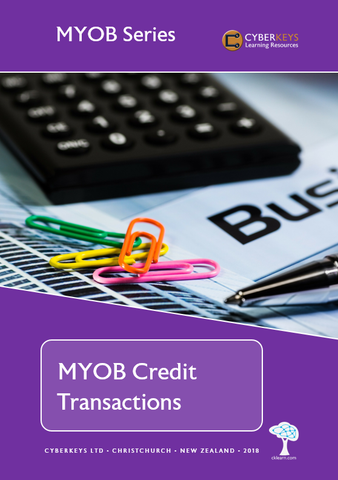 MYOB Credit Transactions
