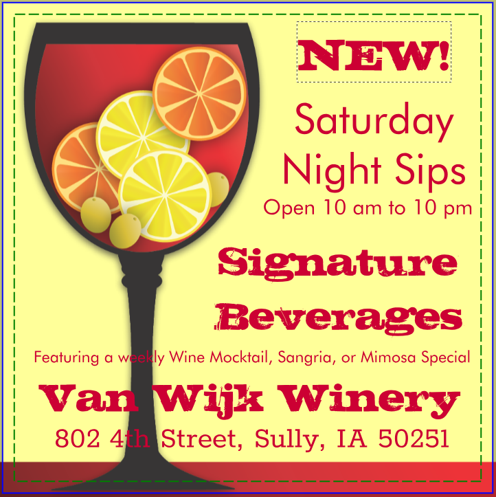 No Cover Charge: Saturday Night Sips