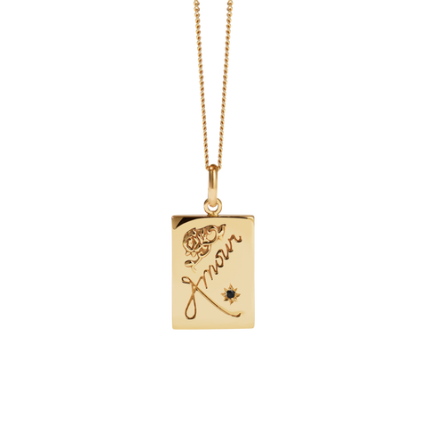 Amour Necklace - Gold Plated Blue Sapphire