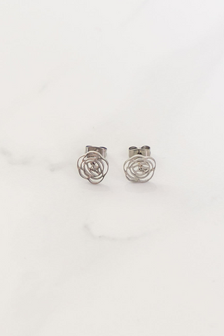 Cut Out Rose Studs