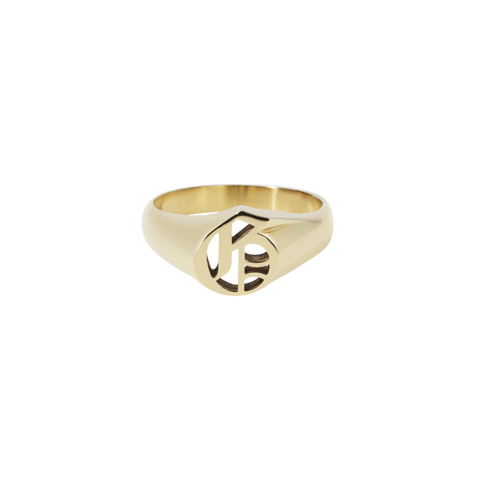 Capital Letter Signet Ring - Gold plated