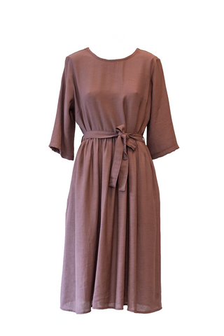 Eve Midi Dress - Walnut