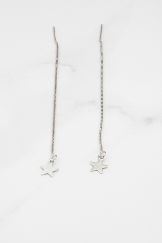 Threader Earrings - Star