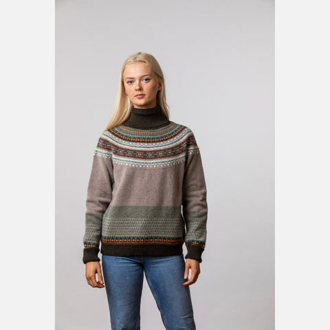 Alpine Roll Collar Sweater - Birch