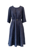 Eden Dress - Navy Jacquard