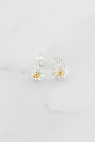 Daisy Studs -  Silver/Gold