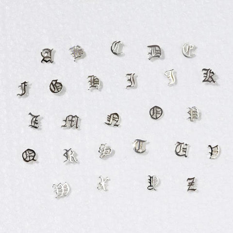 Capital Letter Stud SINGLE - Silver