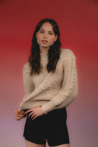 Besito Pom Pom Knit - Oatmeal