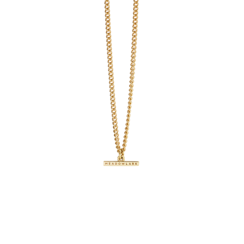 Petite Fob Chain Necklace - Gold Plate