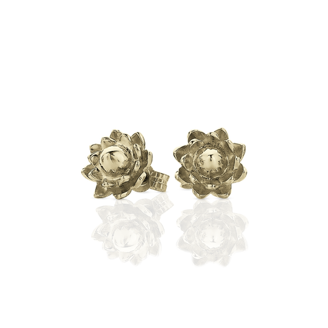Protea Stud Earrings - Gold Plate