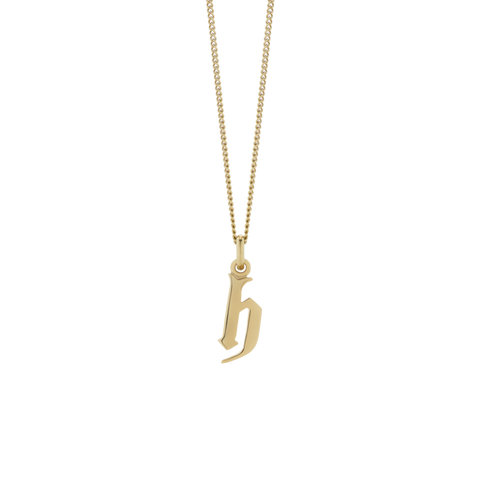Meadowlark Lowercase Letter Necklace - Gold Plated