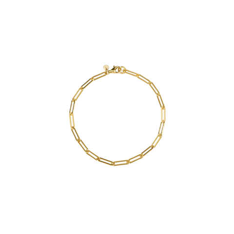 PaperClip Light Bracelet - Gold Plated